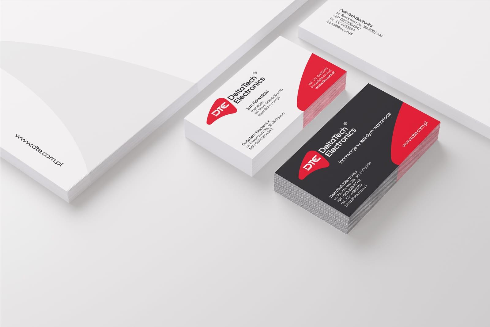 DeltaTech Electronics identyfikacja wizualna projektowanie logo firmy identyfikacji wizualnej akcydensy firmowe wizytowki Agencja brandingowa Moweli Creative