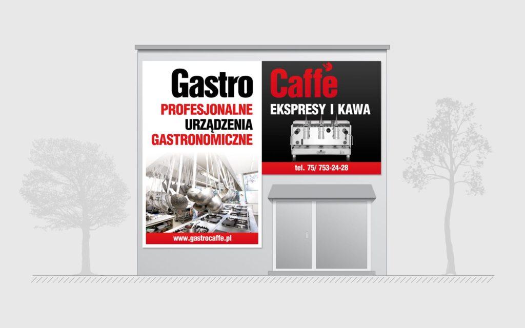 Gastrocaffe reklamy zewnetrzne Agencja brandingowa Moweli Creative