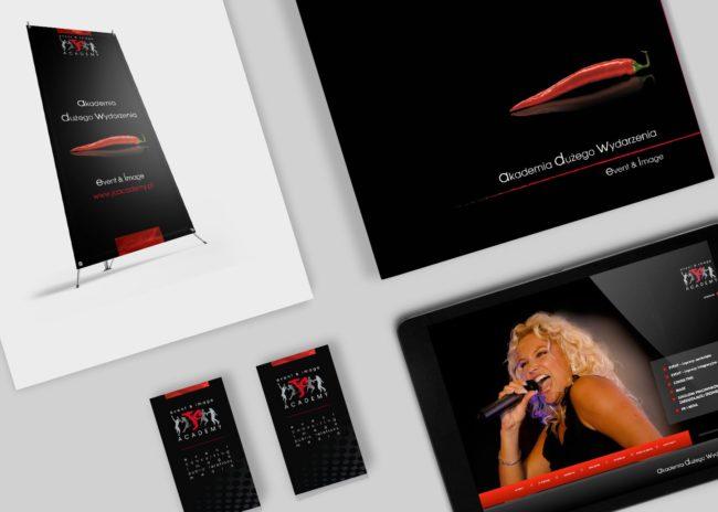 JC Academy teczka reklamowa agnecja brandingowa moweli creative identyfikacje wizualne strony internetowe