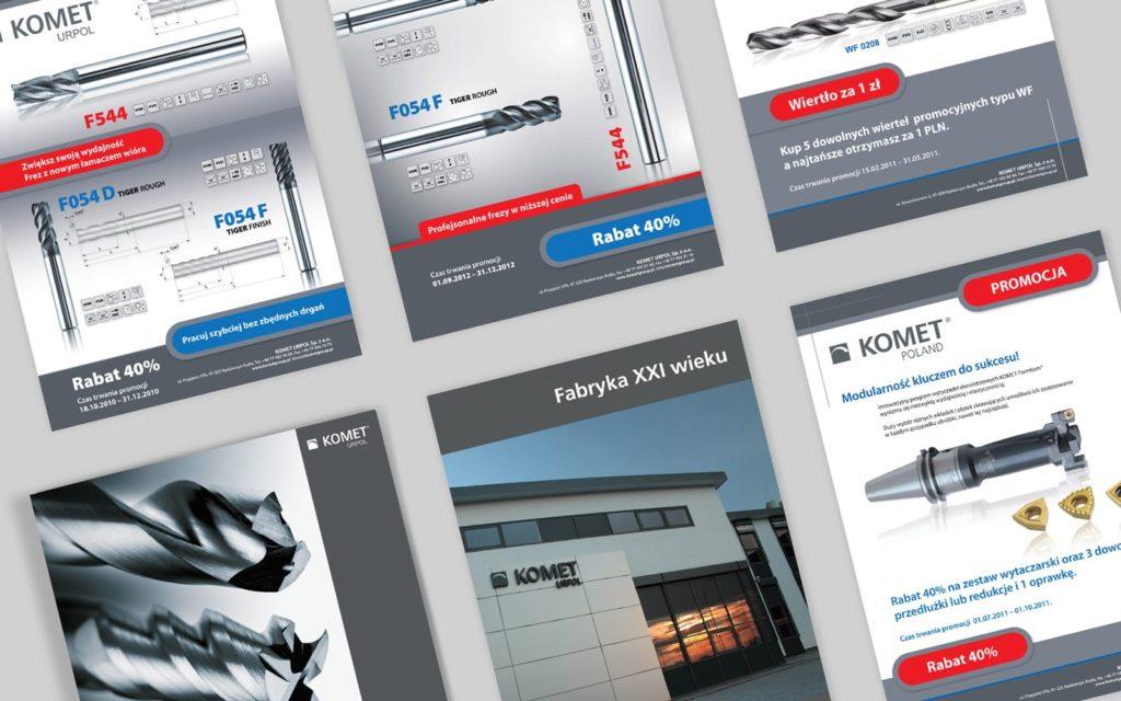 Komet Urpol branding katalogi ulotki reklamowe Agencja brandingowa Moweli Creative