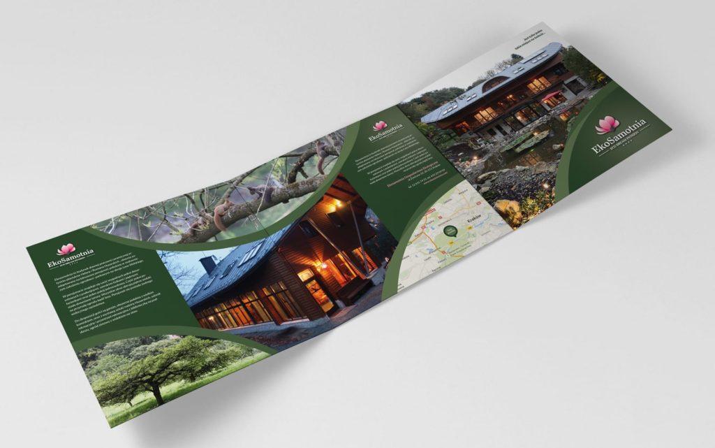 Pensjonat Ekosamotnia ulotki reklamowe Agencja brandingowa Moweli Creative