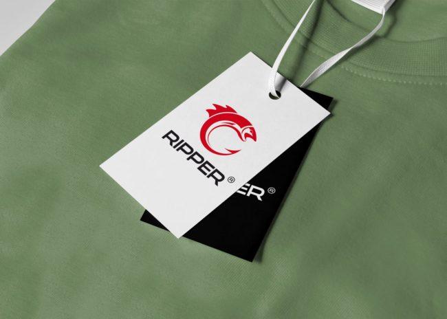 Ripper projektowanie logo marki odzieżowej Agencja brandingowa Moweli Creative Dąbrowa Górnicza Katowice Kraków Wrocław Warszawa