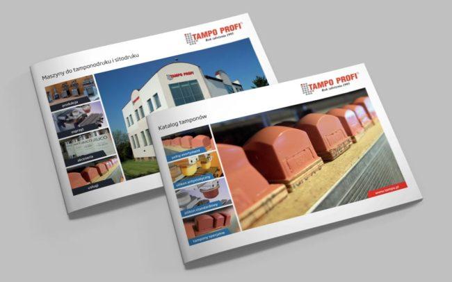 Tampo Profi katalogi reklamowe identyfikacje wizualne Agencja brandingowa Moweli Creative