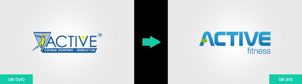 rebranding logo dla firmy Active Fitness