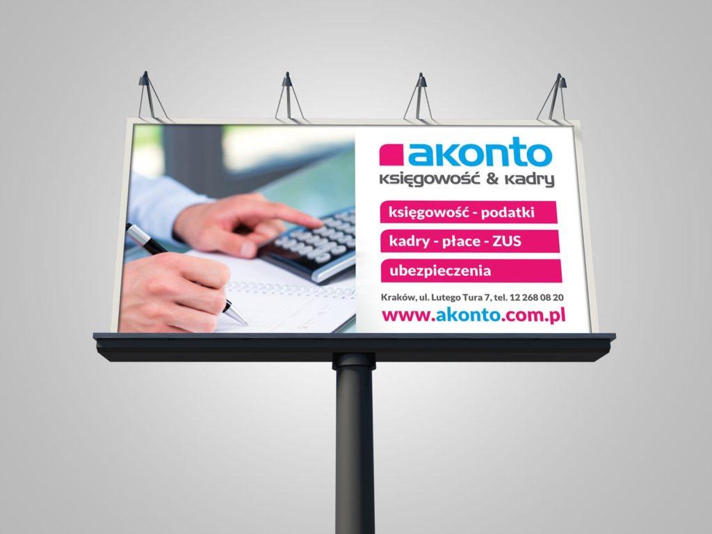Akonto billboardy Agencja brandingowa Moweli Creative