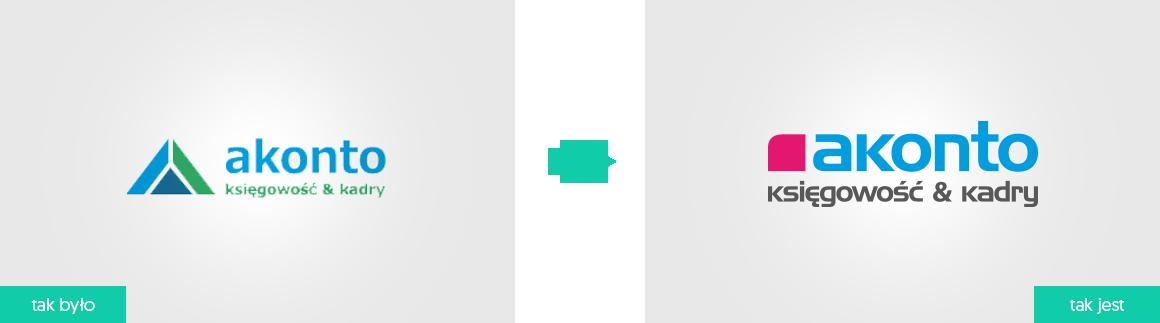 Akonto rebranding logo firmowego agencja brandingowa moweli creative