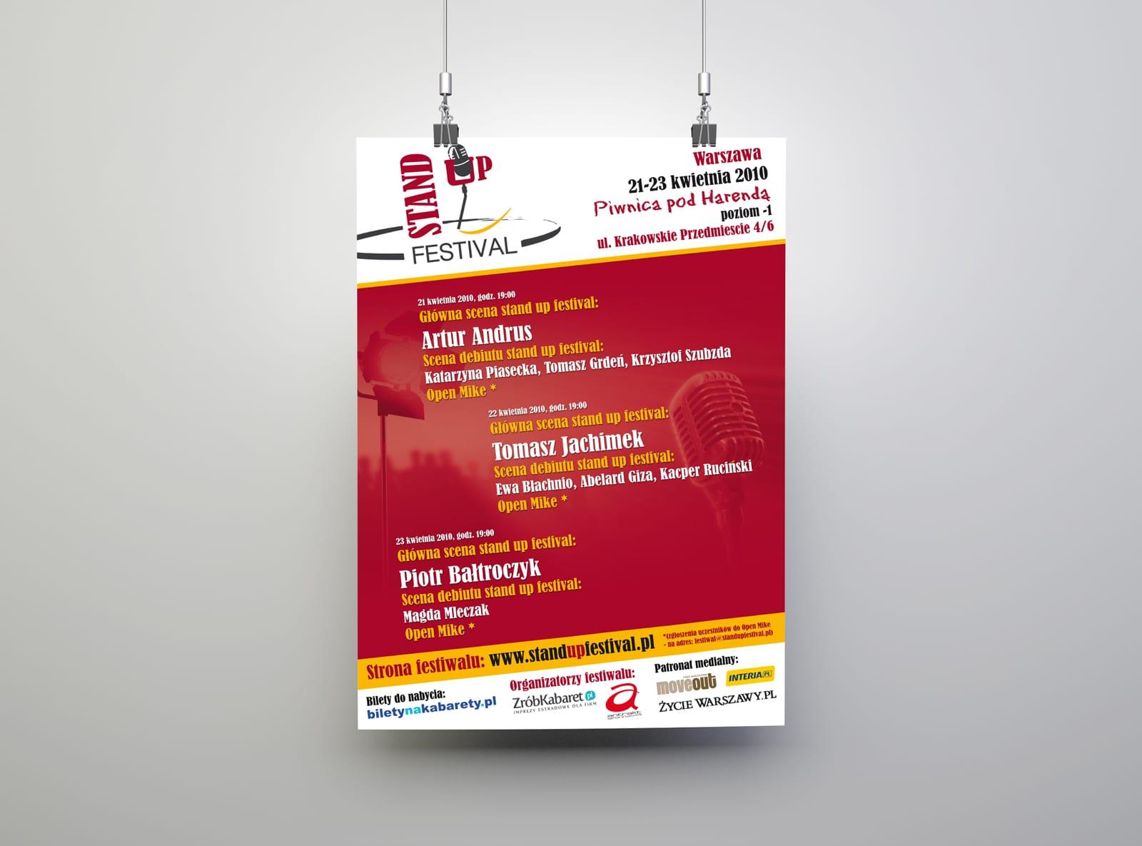 Antrakt StandUp Festival plakaty informacyjne