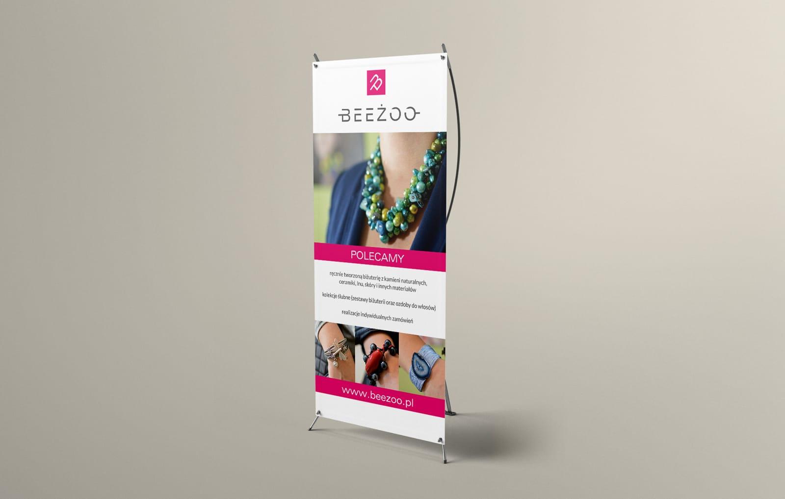 Beeżoo rollupy Agencja brandingowa Moweli Creative