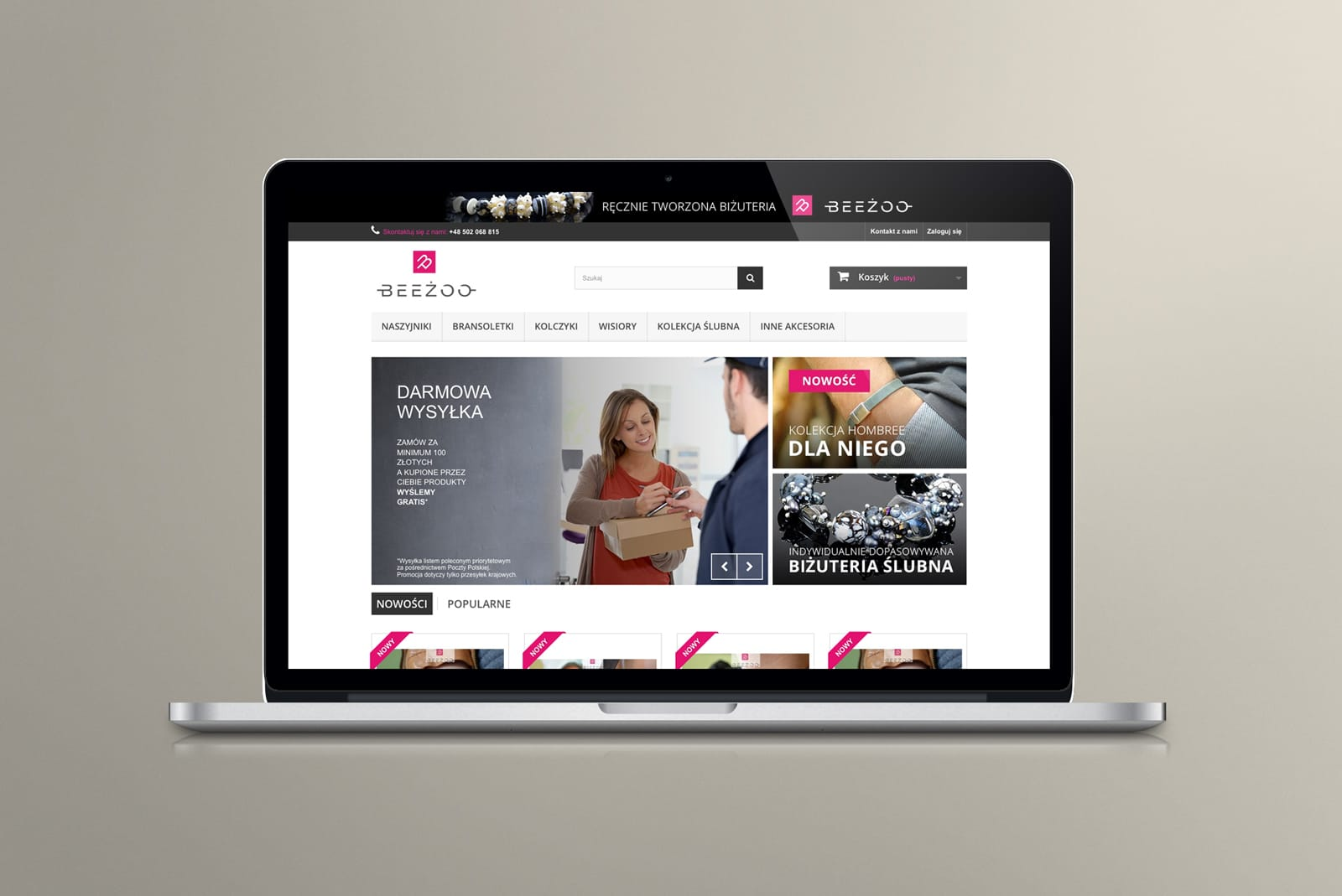 Beeżoo sklep internetowy Agencja brandingowa Moweli Creative