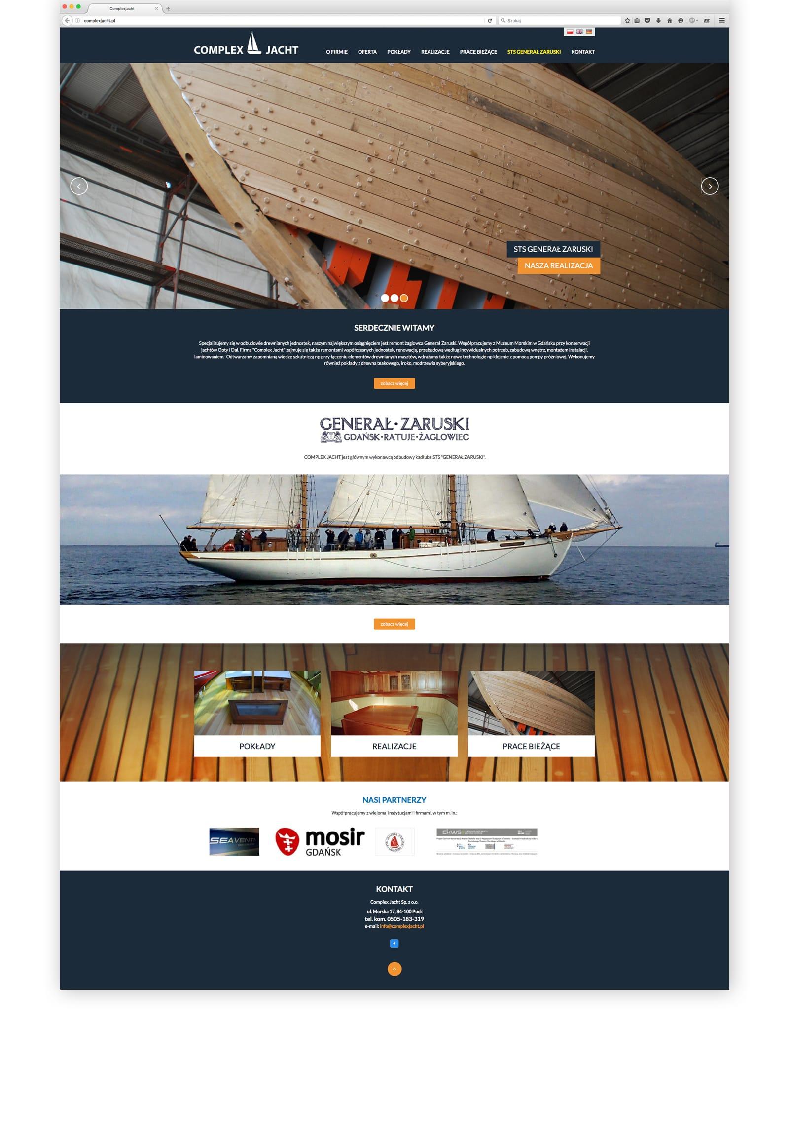 Complex Jacht strona internetowa