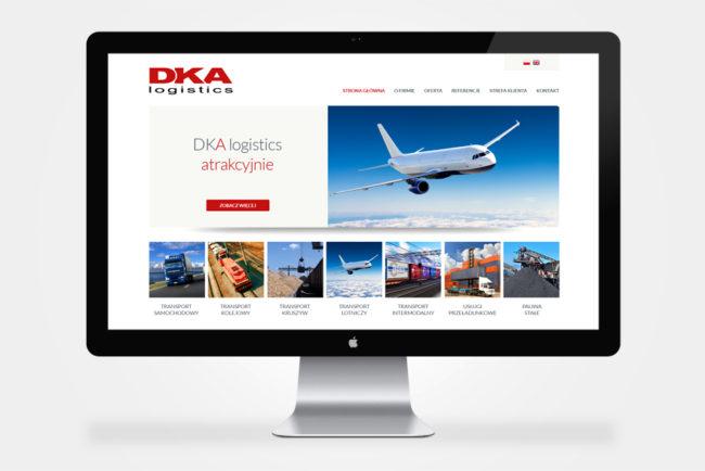firmowa strona internetowa DKA Logistics