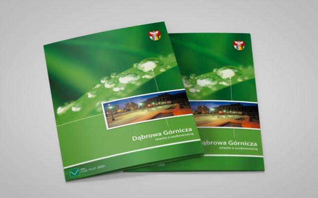 Dąbrowa Górnicza zestaw brandingowy, katalogi informacyjne, teczki reklamowe, plany miasta