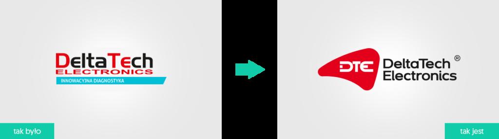DeltaTech Electronics rewitalizacja rebranding logo firmowego Agencja brandingowa Moweli Creative