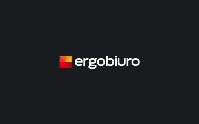 Ergobiuro logo firmowe projektowanie logo firmy znaków firmowych księgi znaku rewitalizacje rebranding logo Agencja brandingowa Moweli Creative