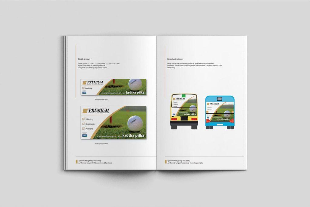 Grupa Finansowa Premium S.A. system identyfikacji wizualnej