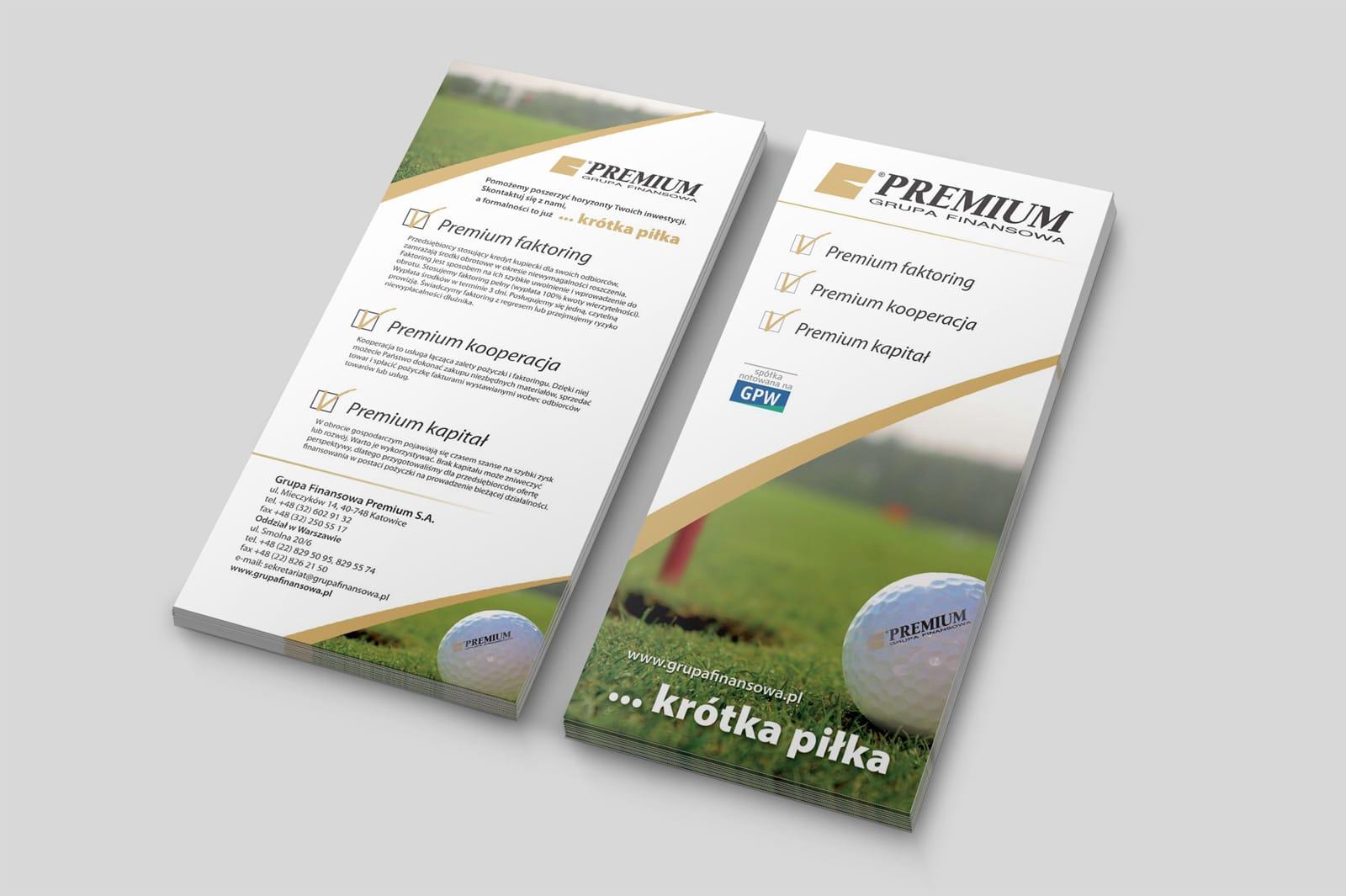 Grupa Finansowa Premium S.A. ulotki informacyjne