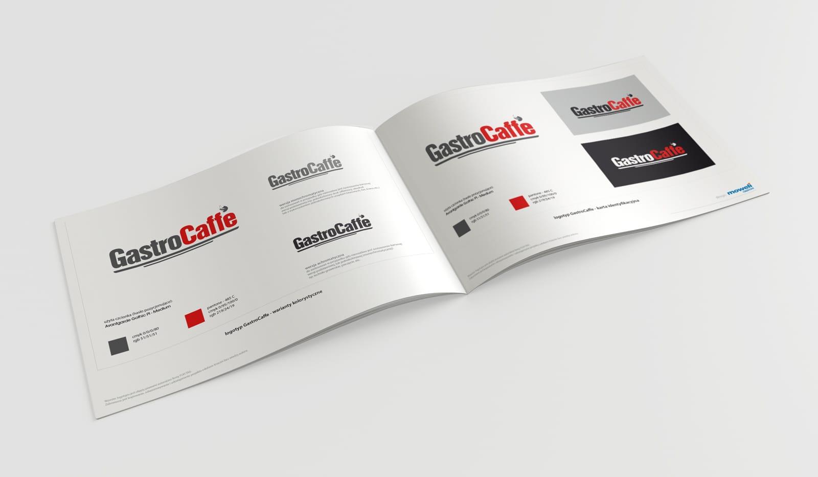 Gastrocaffe księga znaku Agencja brandingowa Moweli Creative