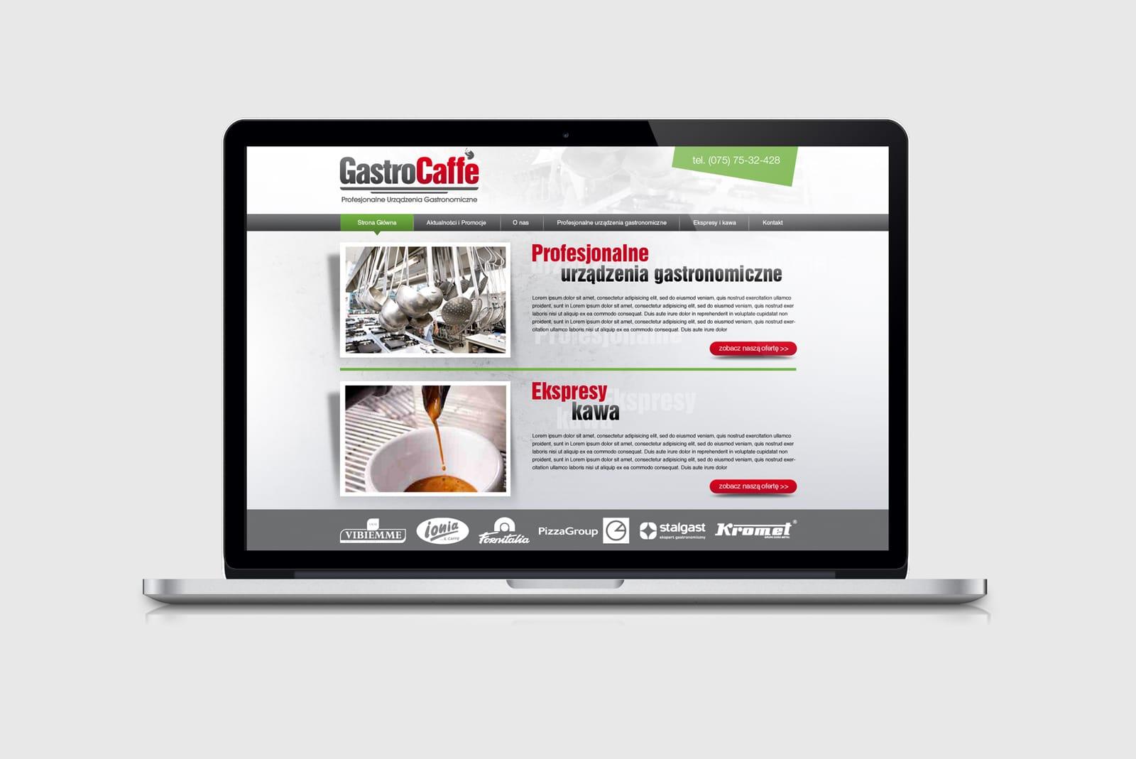 Gastrocaffe projektowanie stron internetowych Agencja brandingowa Moweli Creative