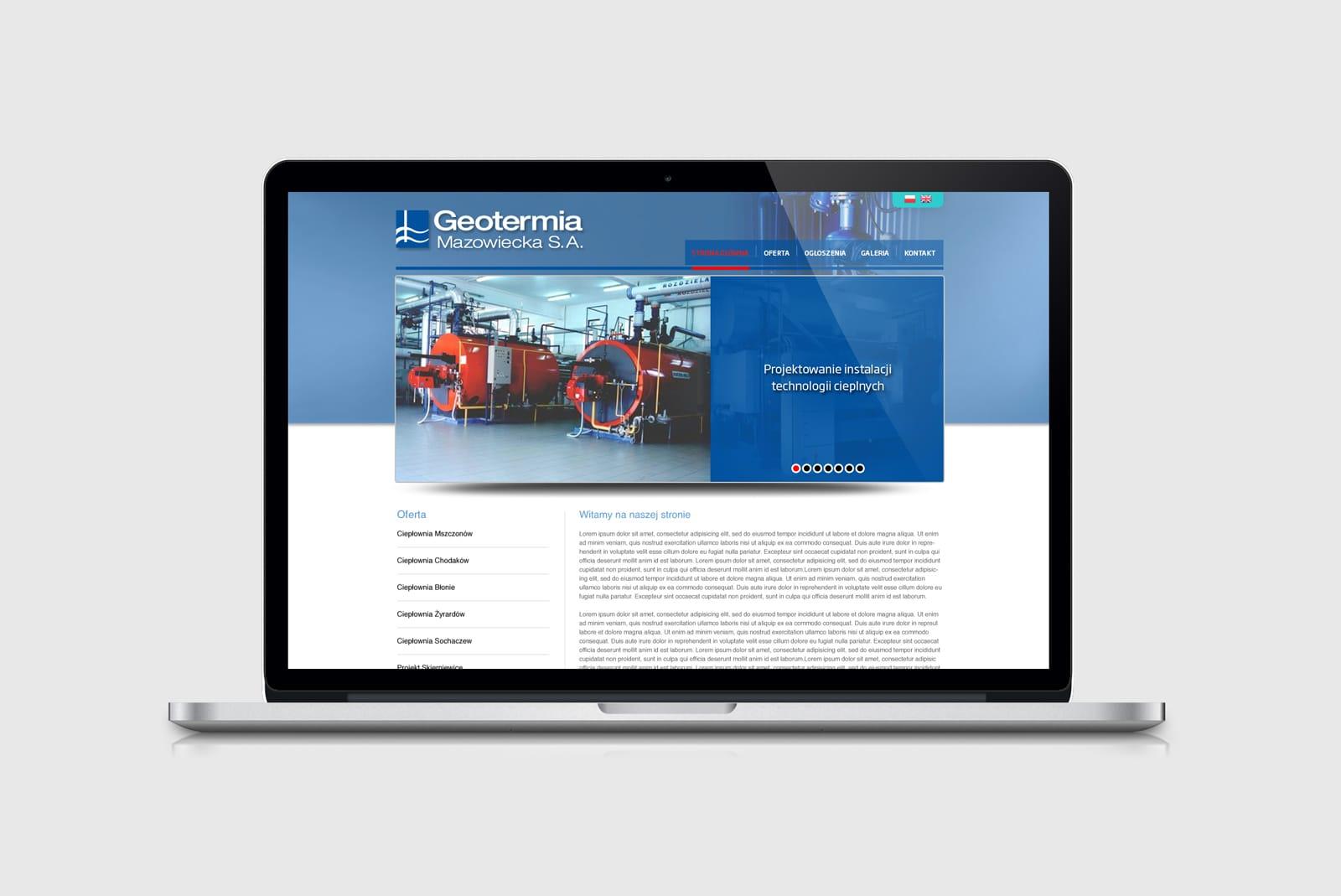 Geotermia Mazowiecka SA projektowanie stron internetowych Agencja brandingowa Moweli Creative