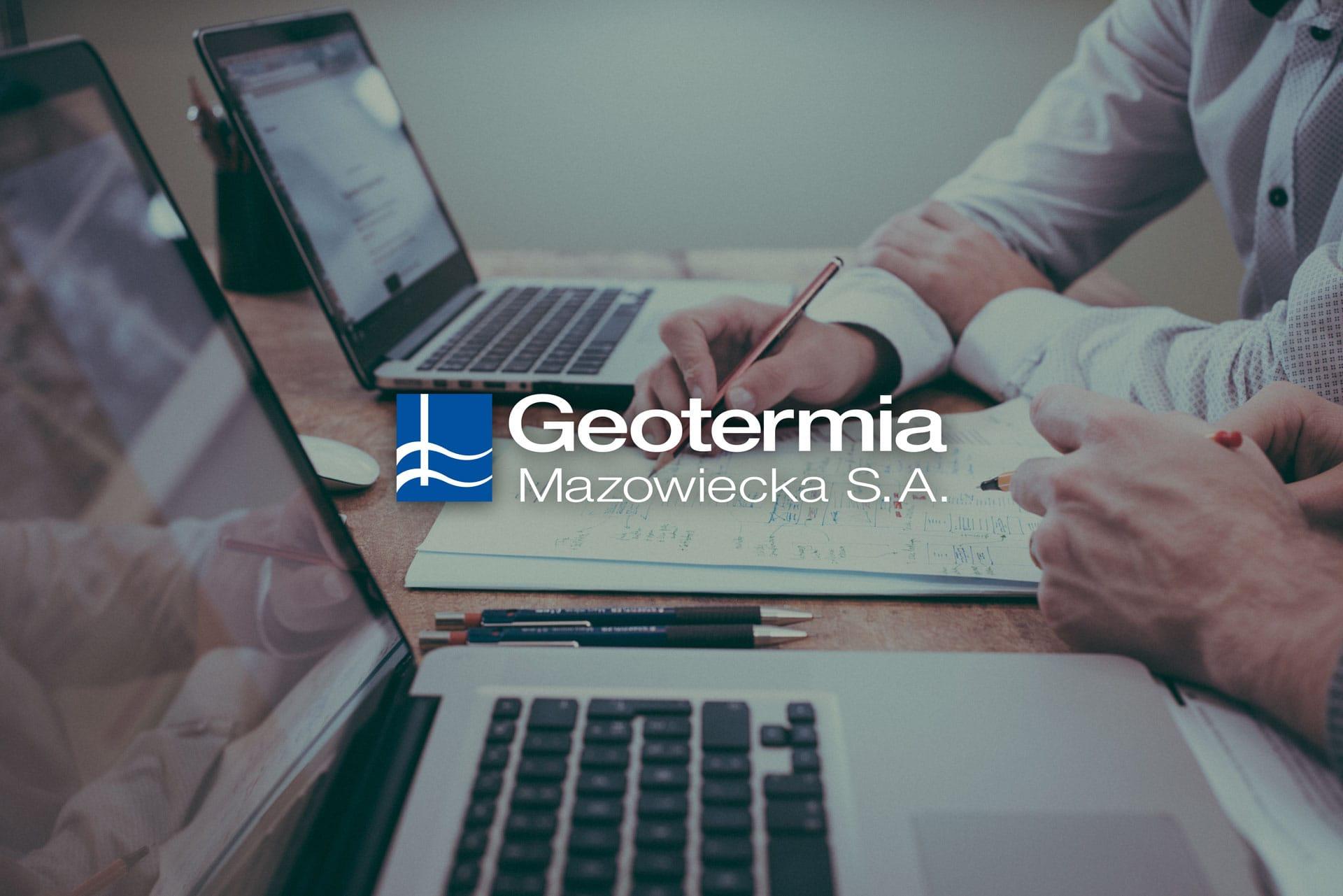 Geotermia Mazowiecka S.A. zestaw brandingowy, rebranding logo, akcydensy firmowe, strona internetowa