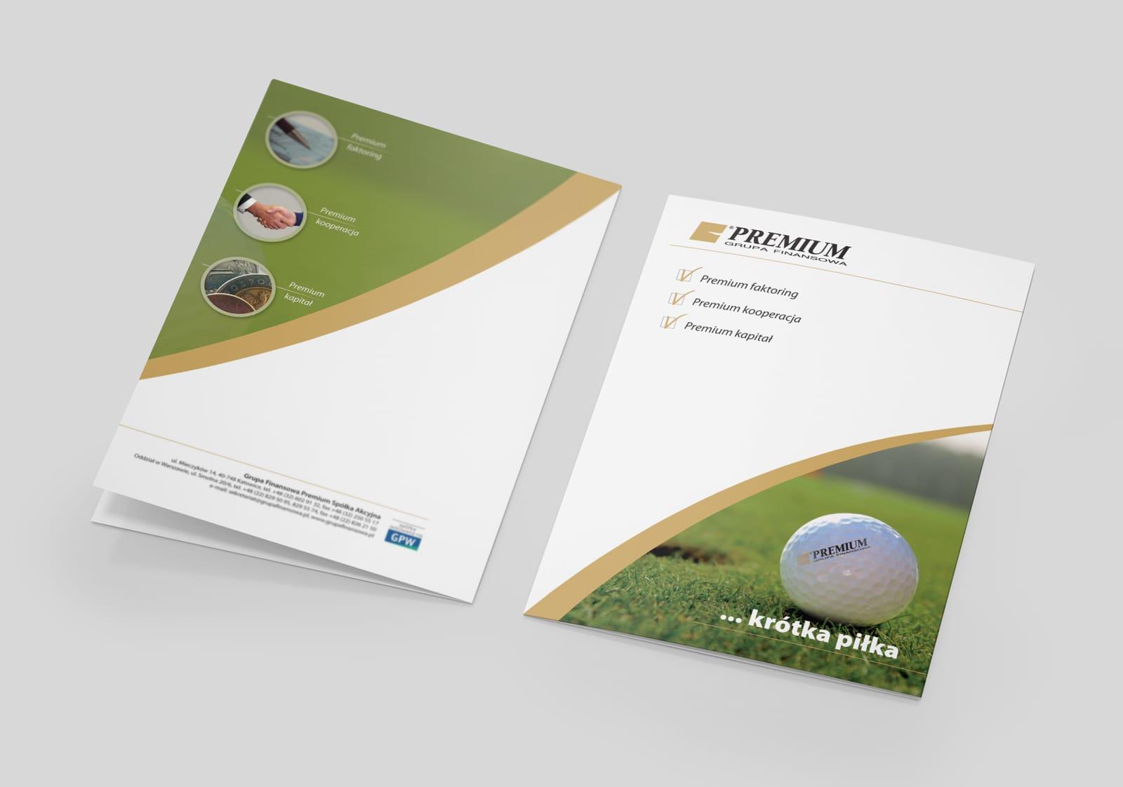 Grupa Finansowa Premium SA teczki reklamowe