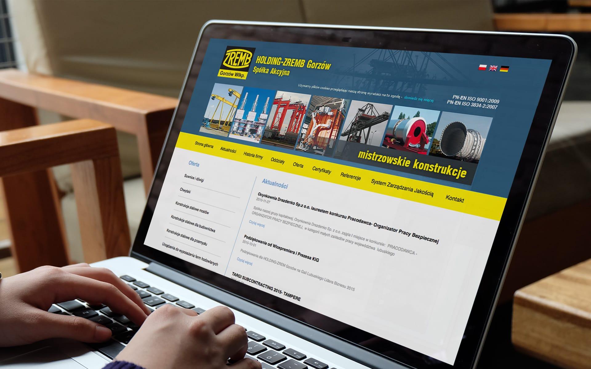 Holding Zremb S.A. firmowa strona internetowa