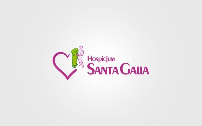 Hospicjum Santa Galla projektowanie logo firmy znaków firmowych księgi znaku rewitalizacje rebranding logo Agencja brandingowa Moweli Creative