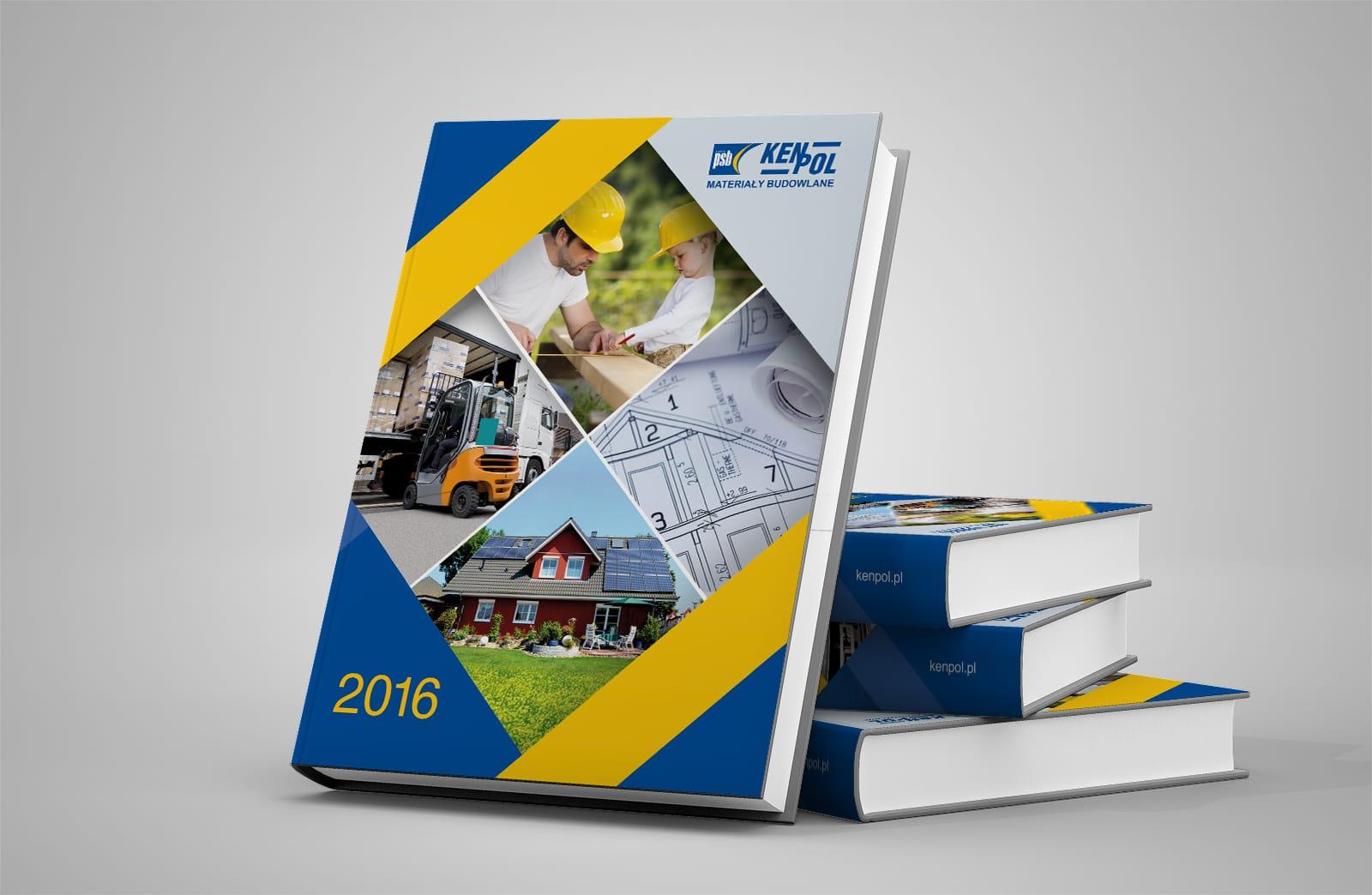 Kenpol materiały budowlane kalendarz ksiazkowy 2016 Agencja brandingowa Moweli Creative
