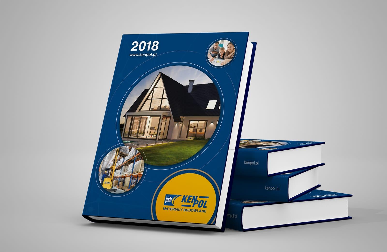 Kenpol materiały budowlane kalendarz ksiazkowy 2018 Agencja brandingowa Moweli Creative