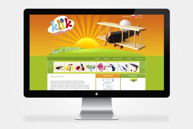 firmowa strona internetowa Lampy Klik