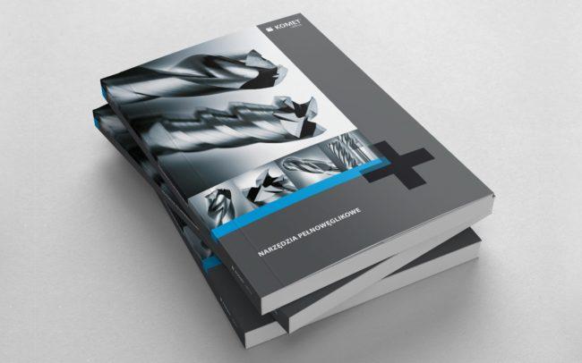 Komet Poland zestaw brandingowy, katalogi produktowe 68 str., broszury reklamowe, reklamy prasowe