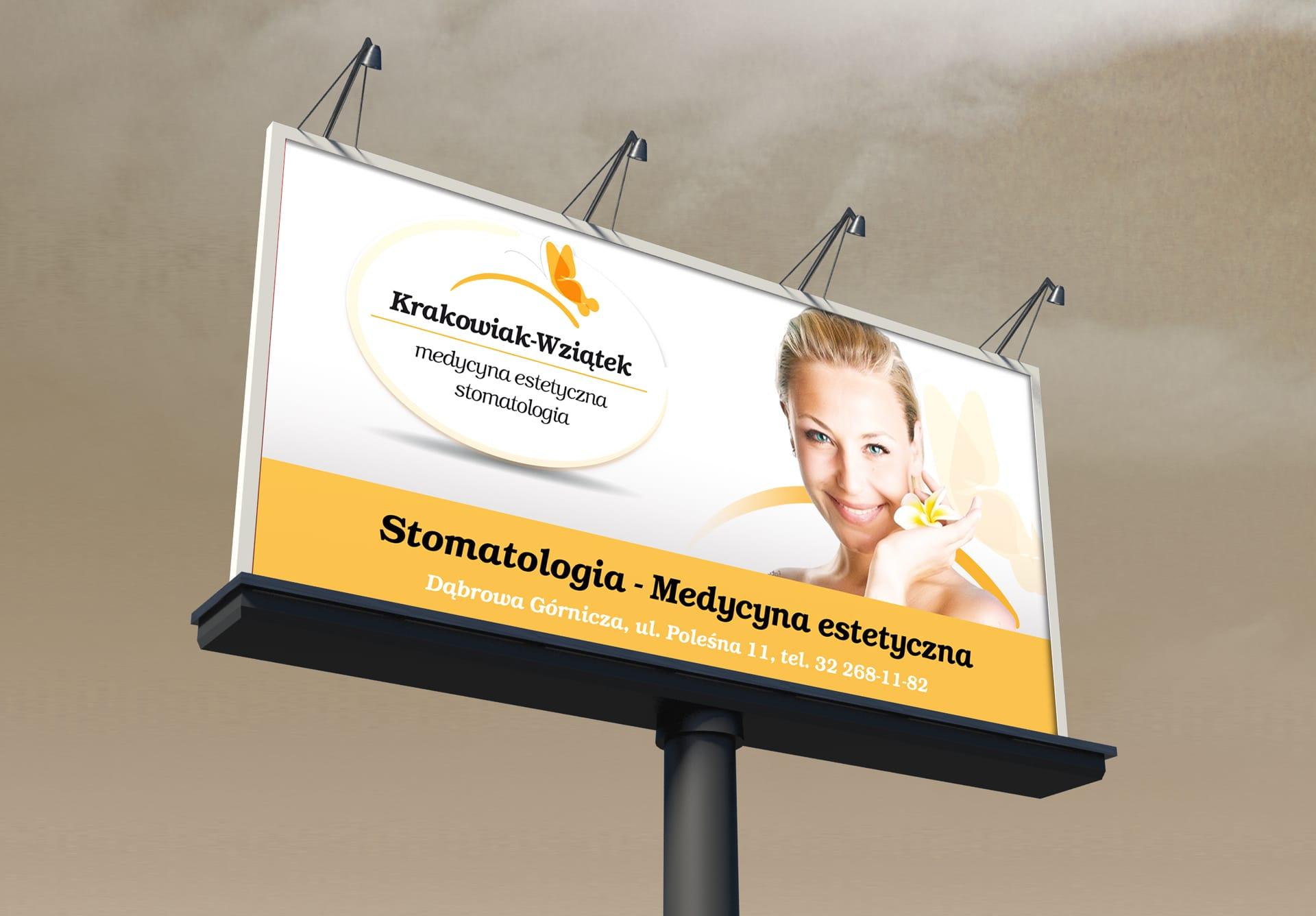 Krakowiak Wziątek zestaw brandingowy, logo firmowe, reklamy zewnętrzne, strona internetowa