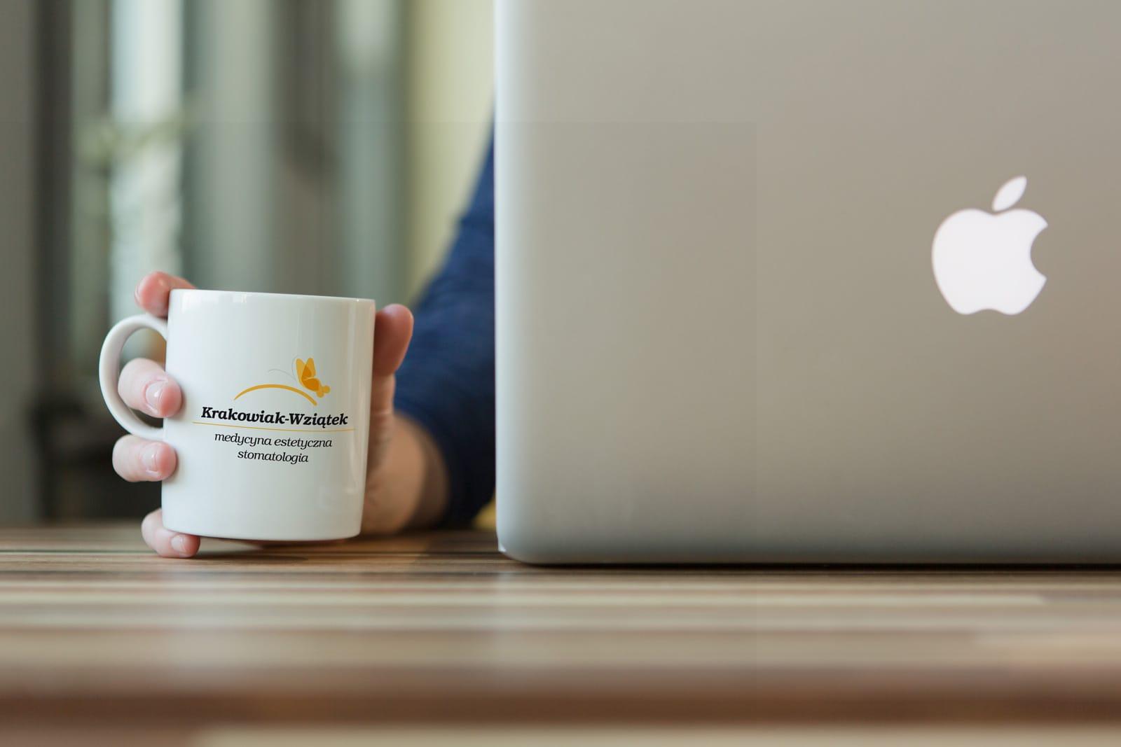 Krakowiak Wziątek logo firmowe kubek reklamowy