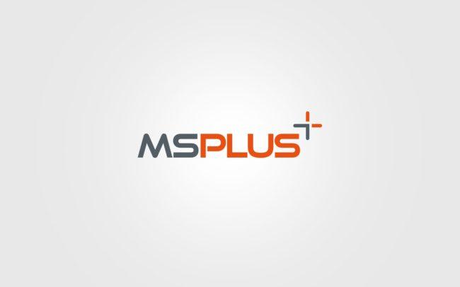 Ms Plus logo firmowe projektowanie logo firmy znaków firmowych księgi znaku rewitalizacje rebranding logo Agencja brandingowa Moweli Creative