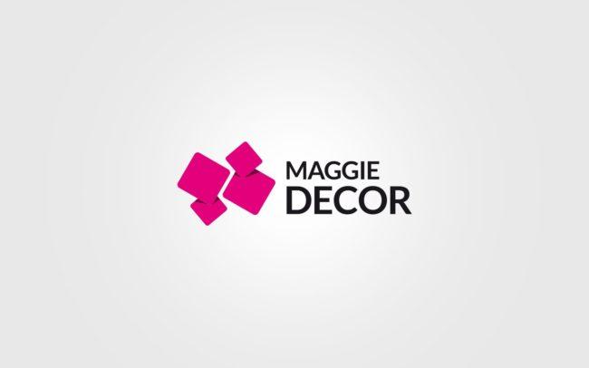 Maggie Decor projektowanie logo firmy znaków firmowych księgi znaku rewitalizacje rebranding logo Agencja brandingowa Moweli Creative