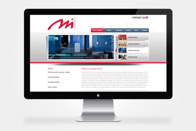 firmowa strona internetowa Mceramic