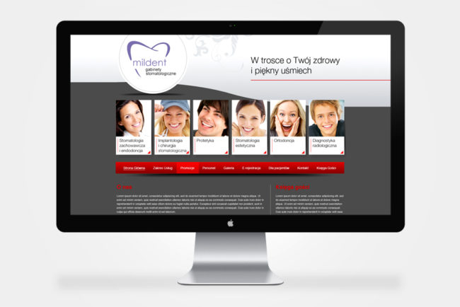firmowa strona internetowa Mildent Chorzów