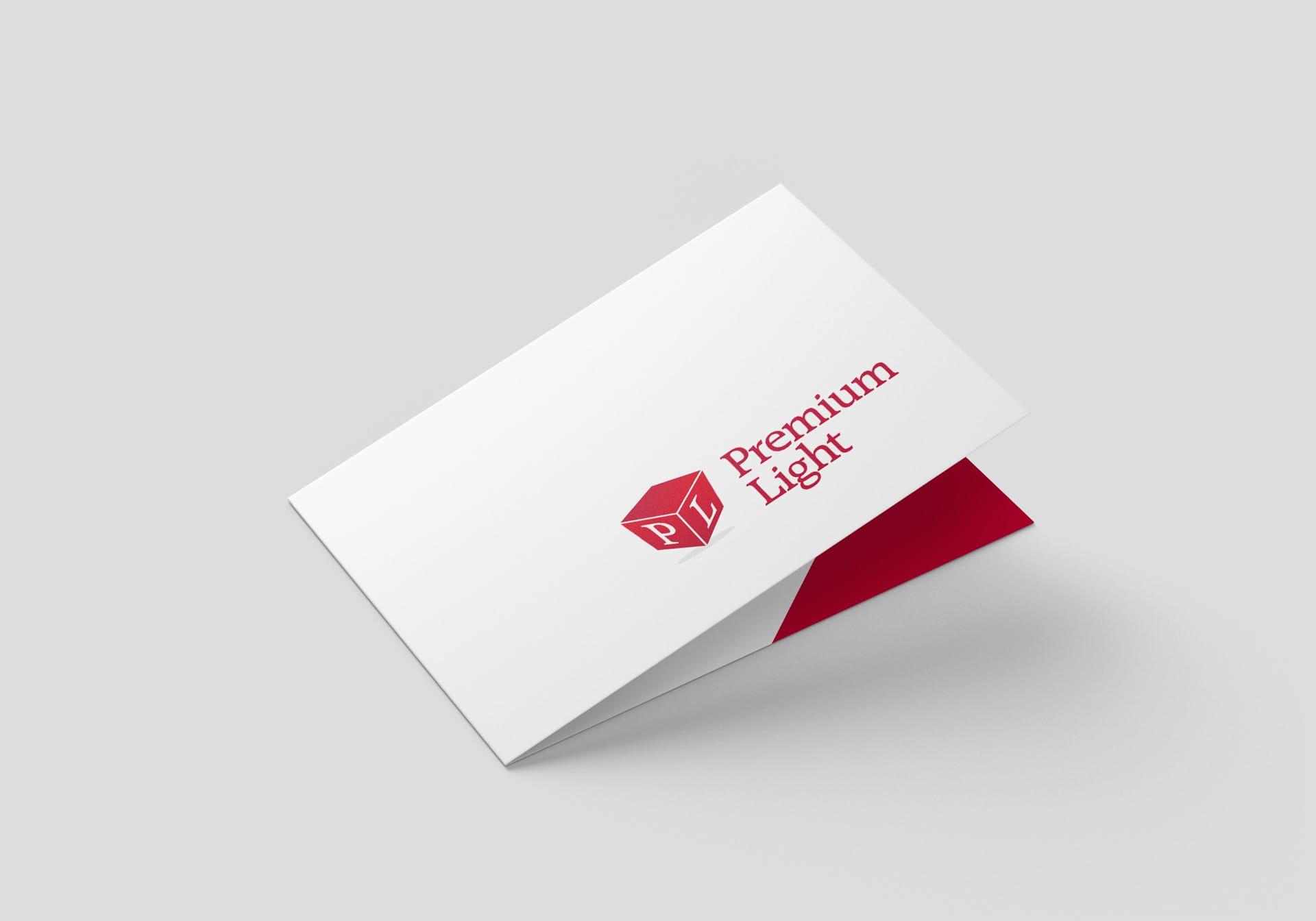 Projektowanie logo dla firmy Premium Light Agencja brandingowa Moweli Creative