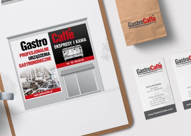Gastrocaffe identyfikacje wizualne logo Agencja brandingowa Moweli Creative Dąbrowa Górnicza, Katowice, Kraków, Wrocław, Warszawa