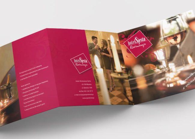 Projektowanie identyfikacji wizualnej dla hotelu i restauracji Sjesta tworzenie logo księgi znaku strony interentowej reklama billboardy ulotki Agencja brandingowa Moweli Creative Dąbrowa Górnicza Katowice Kraków Wrocław Gdańsk Warszawa
