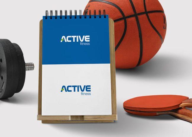 Projektowanie logo dla firmy Centruk sportowe Active Fitness Szczecin, Agencja brandingowa Moweli Creative, Dąbrowa Górnicza, Sosnowiec, Katowice, Warszawa, Wrocław, Kraków, Gdańsk