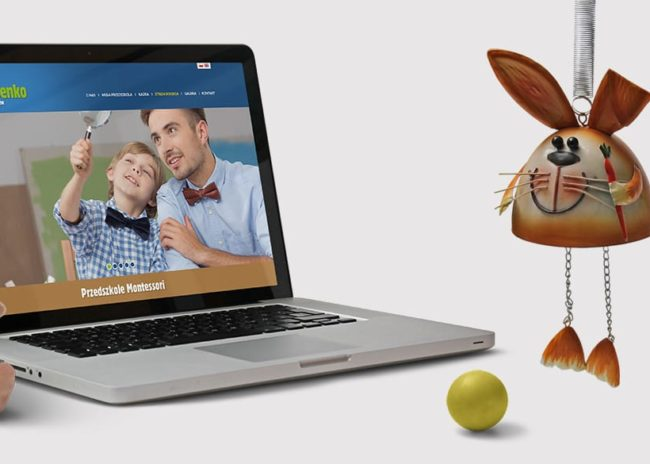 Projektowanie logo i strony internetowej dla firmy Przedszkole Montessori Ziarenko Agencja brandingowa Moweli Creative, Dąbrowa Górnicza, Sosnowiec, Katowice, Warszawa, Wrocław, Kraków, Gdańsk