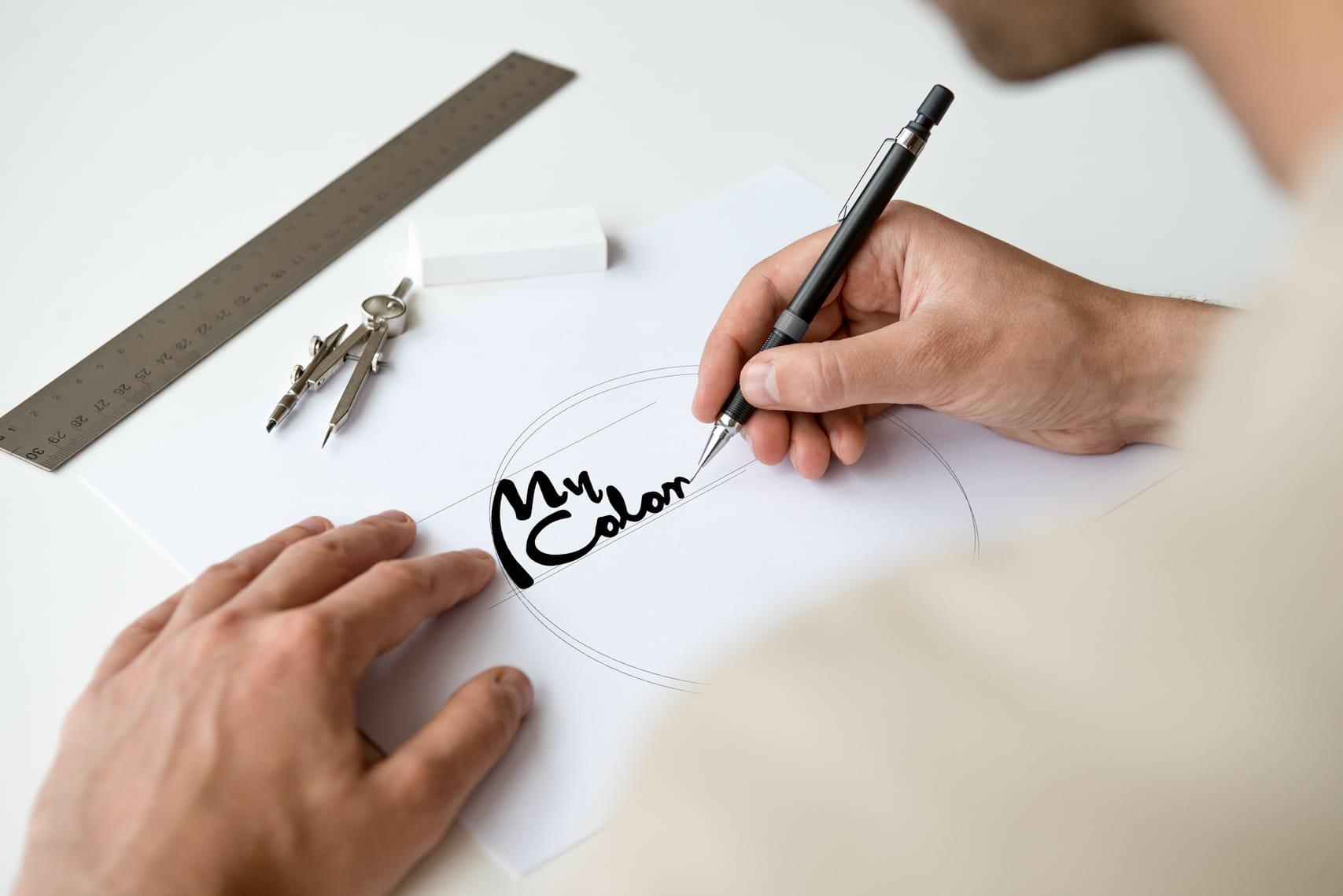 Projektowanie logo marki MyColor dla firmy Pronox Technology S.A. tworzenie logo Agencja brandingowa Moweli Creative, Dąbrowa Górnicza, Sosnowiec, Katowice, Warszawa, Wrocław, Kraków, Gdańsk