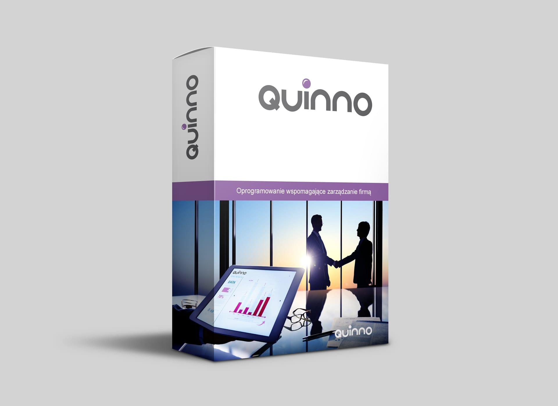 Quinno logo firmowe opakowanie oprogramowanie