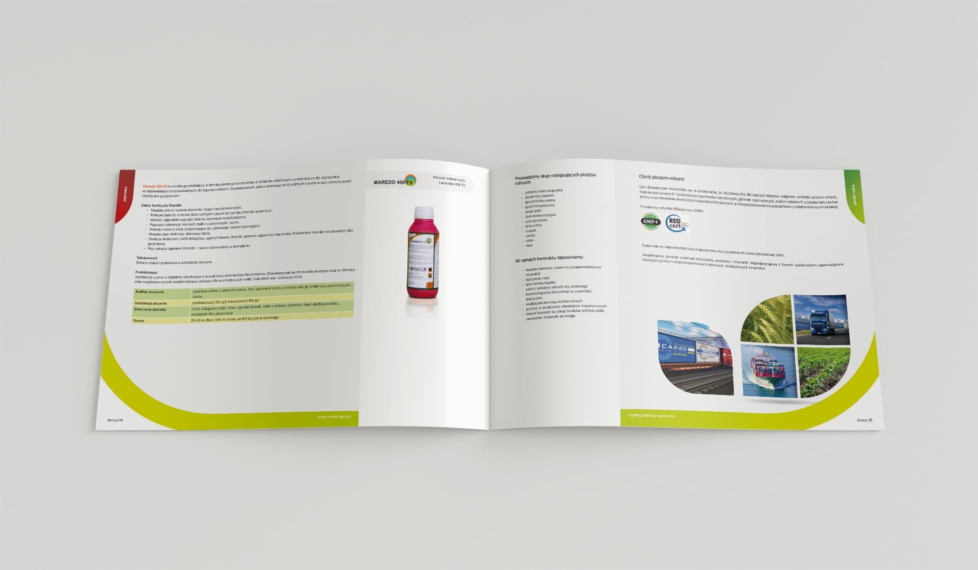 Rudnik logo firmowe, katalogi reklamowe 44 str.
