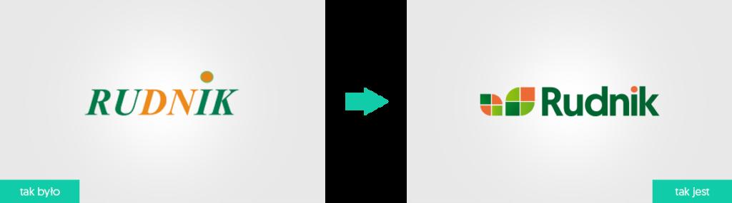 Rudnik rebranding logo firmowego