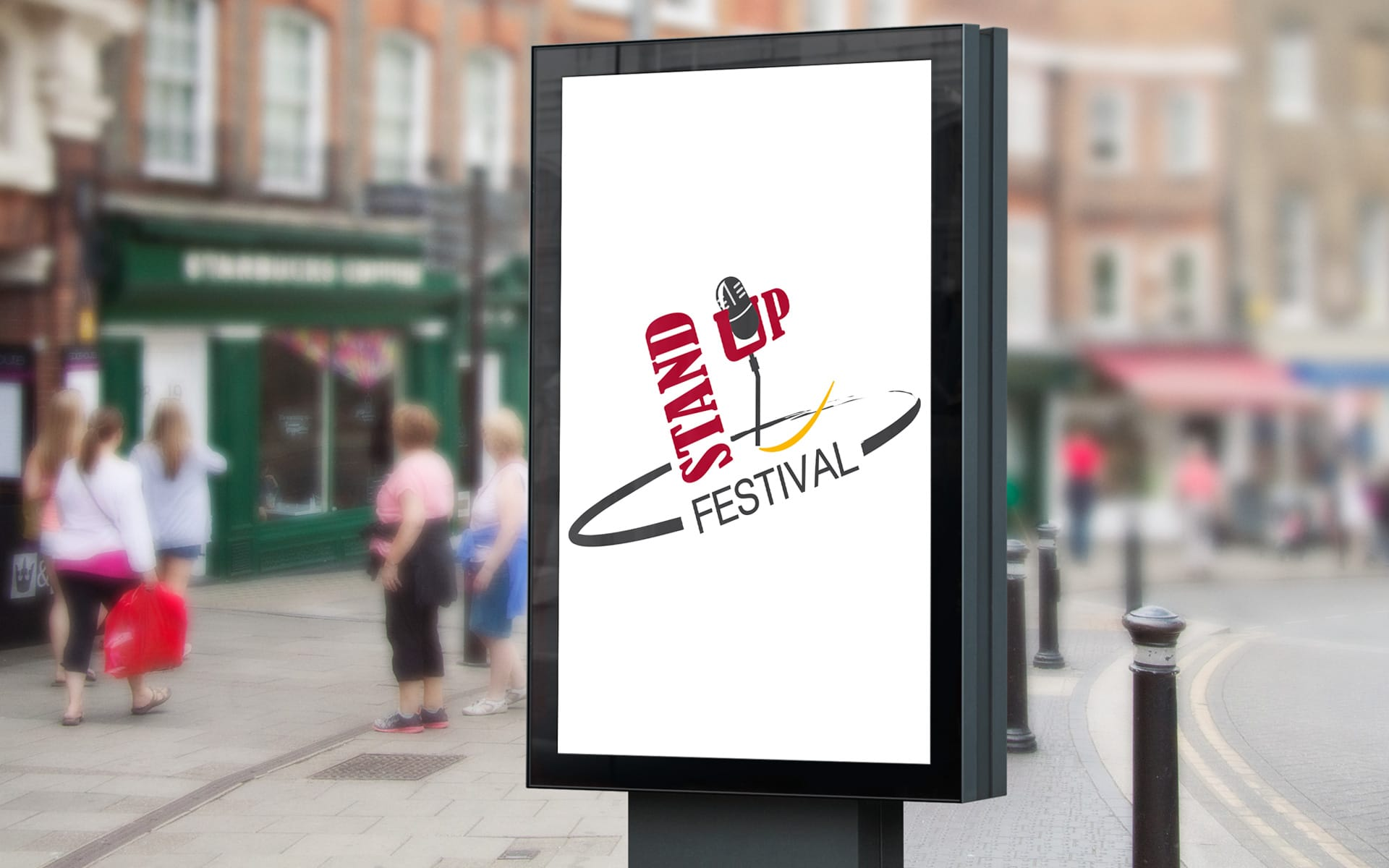 Standup Festival zestaw brandingowy, logo festiwalu, broszury, plakaty, projekt strony festiwalu