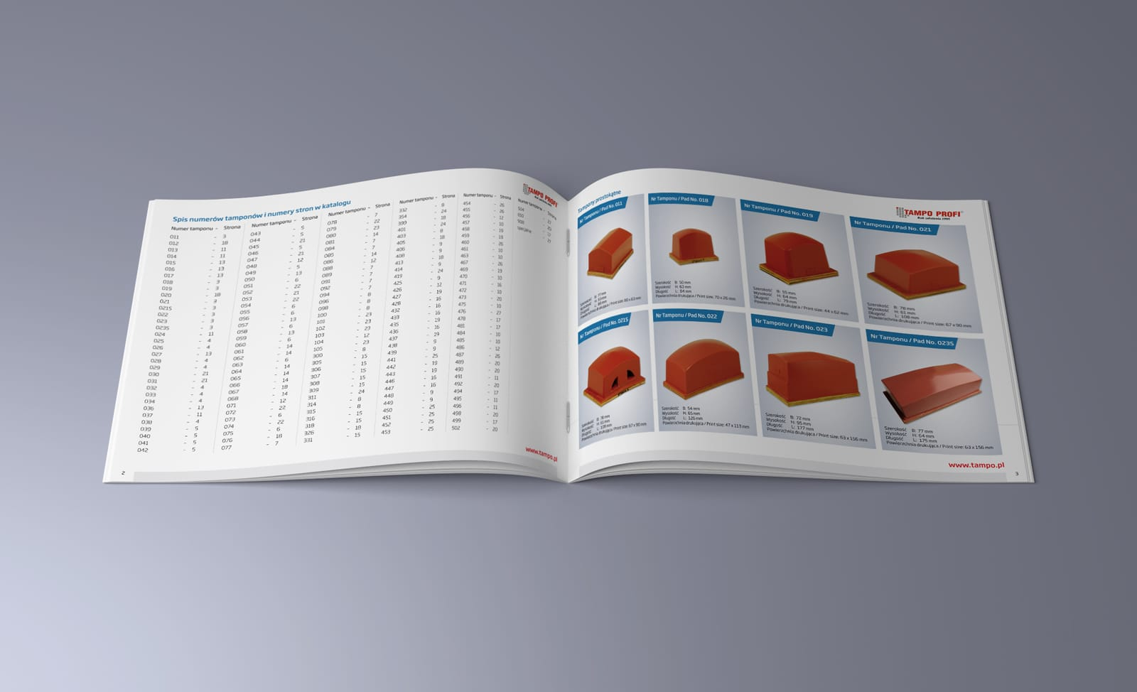 TampoProfi katalog produktowy Agencja brandingowa Moweli Creative