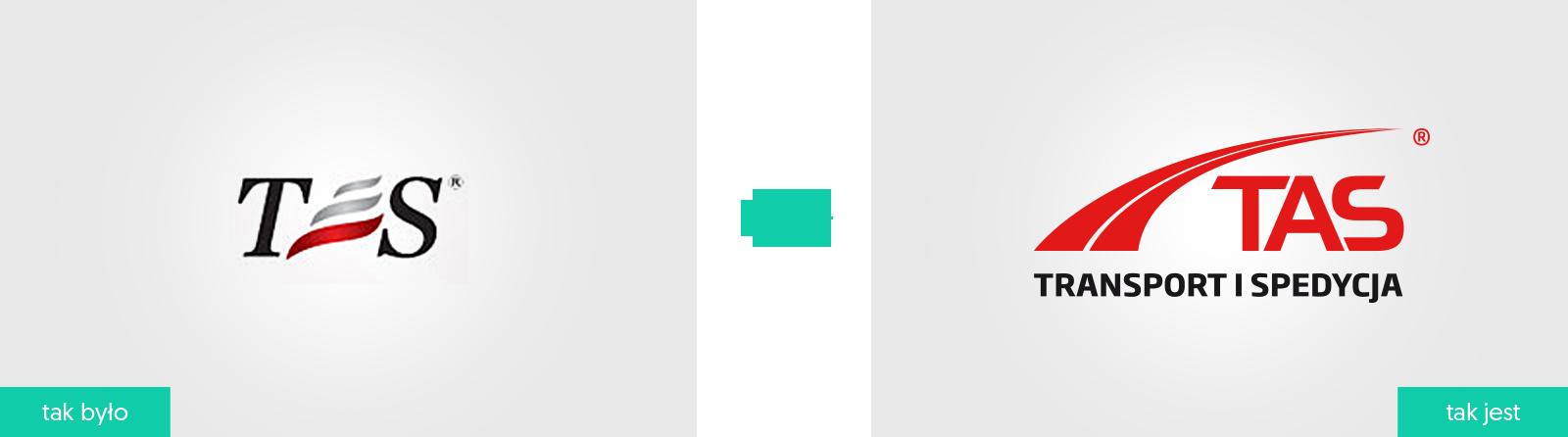 Tas-Spedycja logo firmowe rebranding
