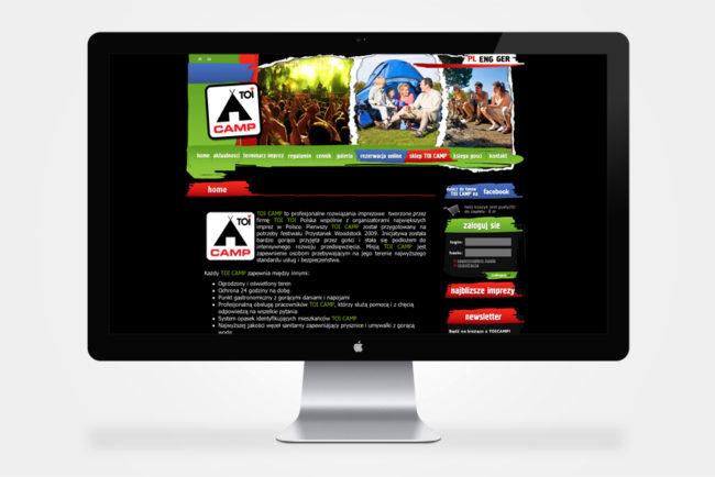 firmowa strona internetowa ToiCamp Przystanek Woodstock
